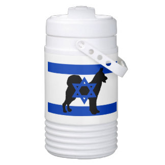 cannan dog silhouette flag_of_israel drinks cooler