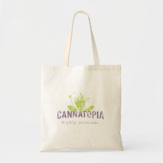 Cannatopia Smoke Logo Canvas Tote