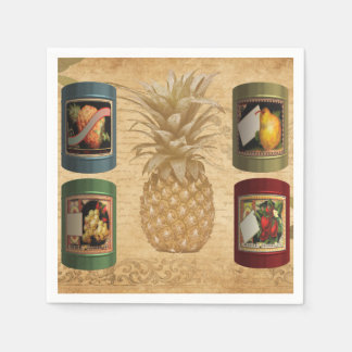 Canned fruit paper napkins