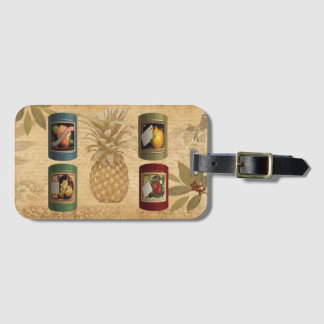 Canned fruit pineapple luggage tag