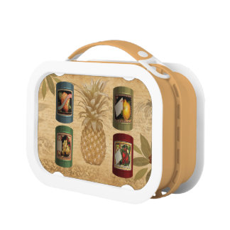 Canned fruit pineapple lunch box