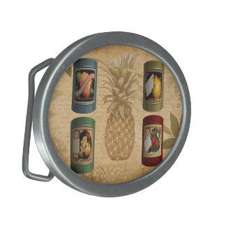 Canned fruit pineapple oval belt buckles