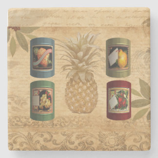Canned fruit pineapple stone coaster