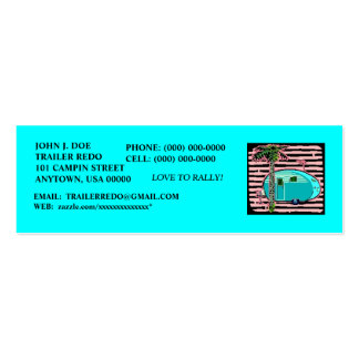 CANNED HAM VINTAGE TRAVEL TRAILERS PROFILE CARDS! PACK OF SKINNY BUSINESS CARDS