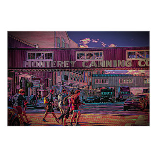 Cannery Row, on a poster