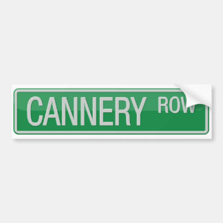 Cannery Row road sign Bumper Sticker