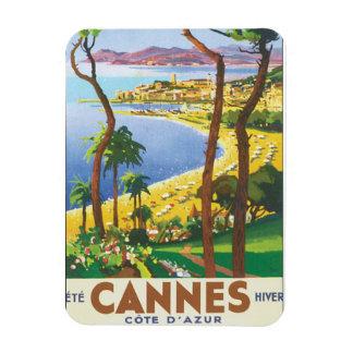 Cannes Cote D'Azur Vintage Travel Poster Magnet