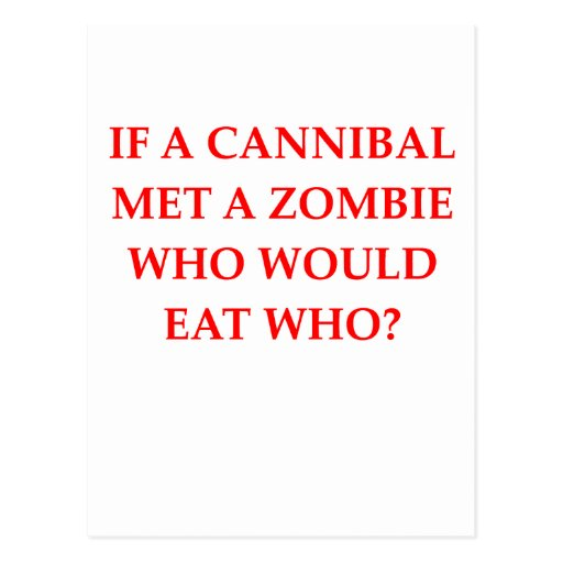 cannibal post card