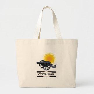 cannin sun civil war large tote bag