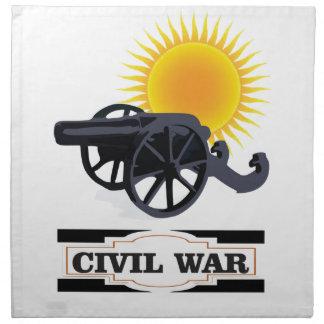 cannin sun civil war napkin