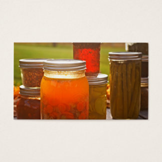 Canning in Autumn Business Card