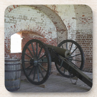 Cannon at Fort Pulaski Beverage Coasters