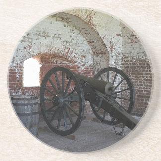 Cannon at Fort Pulaski Beverage Coasters