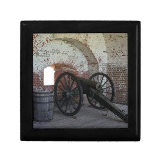 Cannon at Fort Pulaski Small Square Gift Box