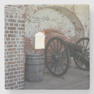 Cannon at Fort Pulaski Stone Coaster