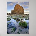 Cannon Beach Haystack Rock Low Tide Oregon Poster