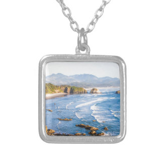 Cannon Beach Oregon Silver Plated Necklace