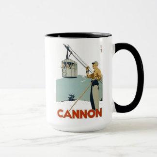 Cannon Ski Poster Mug