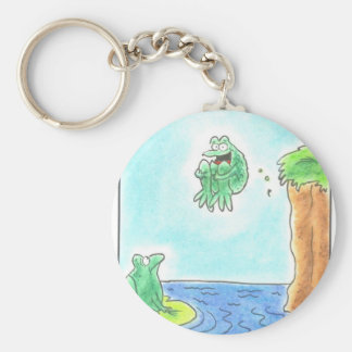 Cannonball Frog Basic Round Button Key Ring