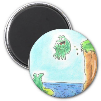 Cannonball Frog Refrigerator Magnet