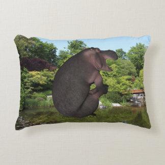 Cannonball Hippo Decorative Cushion