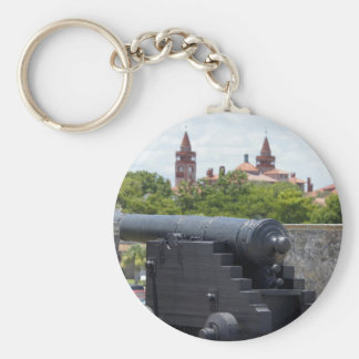 Cannons at Castillo San Marcos Basic Round Button Key Ring