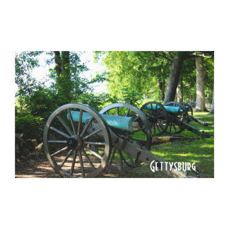 Cannons of Gettysburg National Military Park Stretched Canvas Print