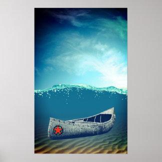 Canoe Adrift Poster Art