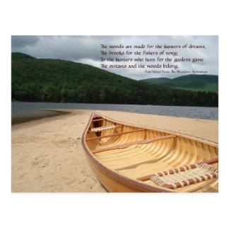 Canoe at Water's Edge Postcard