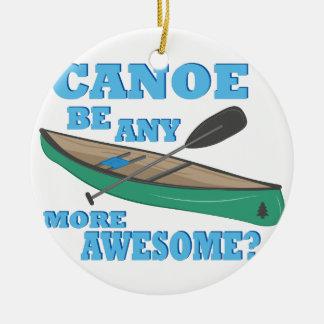 Canoe Awesome Ceramic Ornament