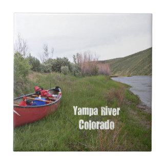 Canoe Camping, Yampa River, CO Ceramic Tile