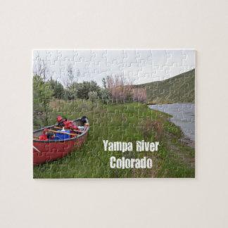 Canoe Camping, Yampa River, CO Jigsaw Puzzle