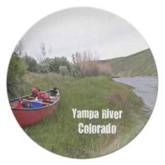 Canoe Camping, Yampa River, CO Plate