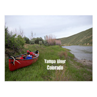 Canoe Camping, Yampa River, CO Postcard