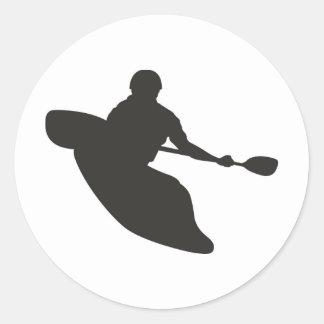 Canoe Classic Round Sticker