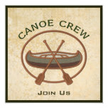 Canoe Crew 5.25x5.25 Square Paper Invitation Card