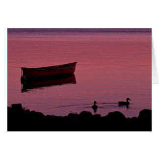 Canoe Evening Card