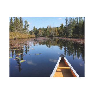 Canoe in Algonquin Canada Canvas Print (1)