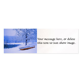 Canoe in Snow Business Card Template