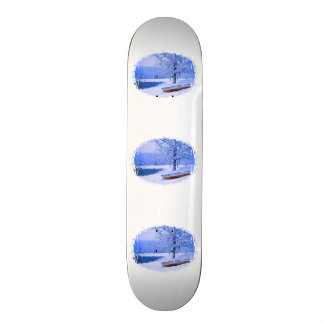 Canoe in Snow Skate Board Deck