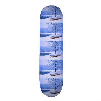 Canoe in Snow Skate Board