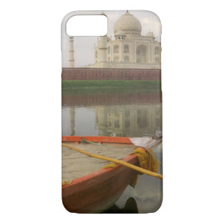 Canoe in water with Taj Mahal, Agra, India iPhone 7 Case