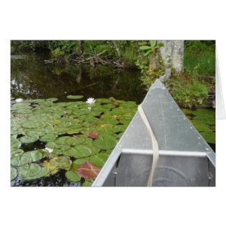 Canoe & Lilies Card (blank)