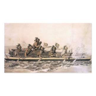 Canoe of the Sandwich Islands. Hawaii. c. 1778 Double-Sided Standard Business Cards (Pack Of 100)