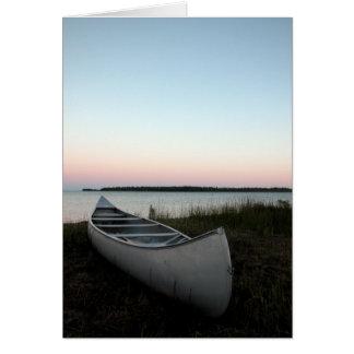 Canoe on Beach Card