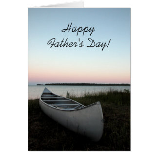 Canoe on Beach Fathers Day Card