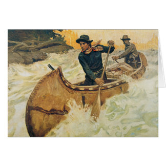 Canoe on the Rapids Card