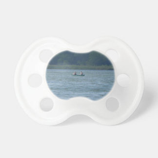 Canoe on the water pacifier