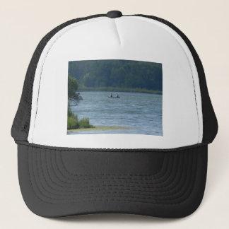 Canoe on the water trucker hat