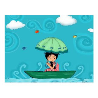 canoe postcard